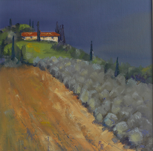 Ruth Bond - Tuscany Storm Approaching Olive Trees